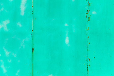 Green rusty metal texture. Grunge abstract background