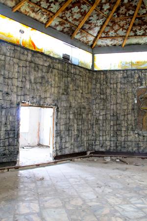 junk: Interior of abandoned restaurant