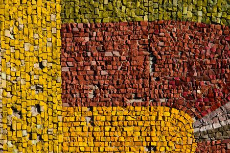 Mosaic background. Colorful ceramic tile pattern Stock Photo