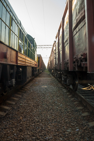 Between two freight trains