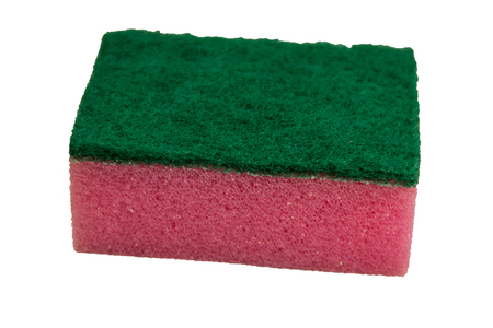 Kitchen cleaning sponge isolated on white background Stock Photo