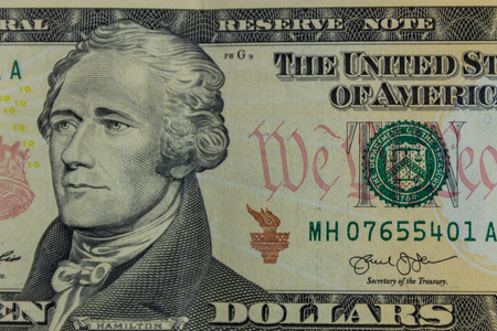 Macro shot of ten dollars banknote Imagens - 91600553