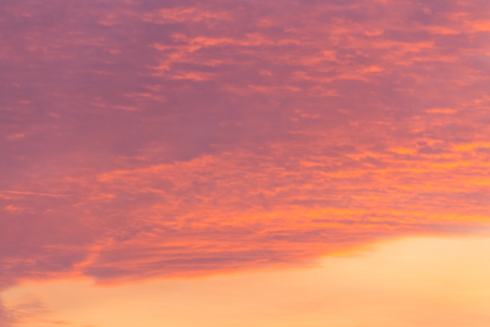 Beautiful pink sunrise sky. Natural background
