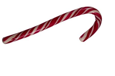 Holiday candy cane isolated on white background