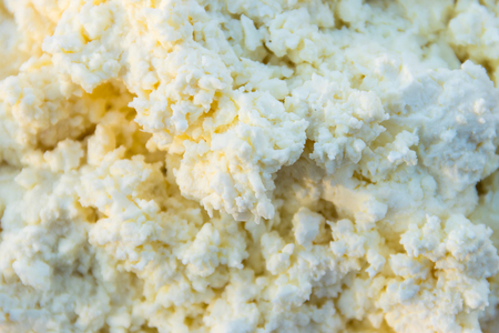 Background of the fresh homemade cottage cheese