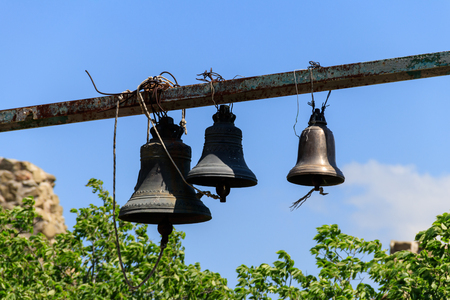 Orthodox bells against blue sky