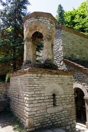 Chapel of St. Zabulon and Sosana and house St. Nino's spring in monastery of St. Nino at Bodbe. Sighnaghi, Kakheti, Georgia Stock Photo