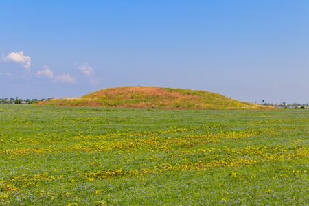 Scythian burial mound in a field in the south of Ukraine