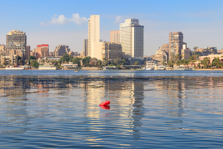 View of the Cairo city and Nile river in Egypt Stock fotó