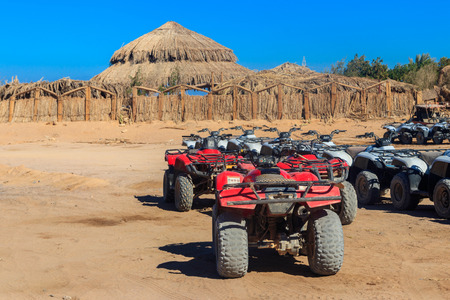 ATV quad bikes for safari trips in Arabian desert, Egypt