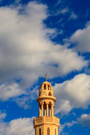 Minaret of El Mina Masjid Mosque in Hurghada, Egypt