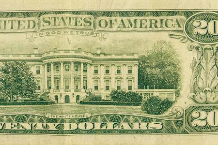 Tiro de macro de billete de veinte dólares Foto de archivo