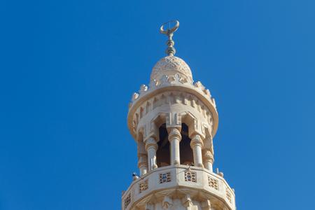 Minareto della moschea centrale di Hurghada, Egitto