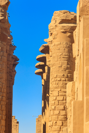 Great Hypostyle Hall in Karnak temple complex in Luxor, Egypt