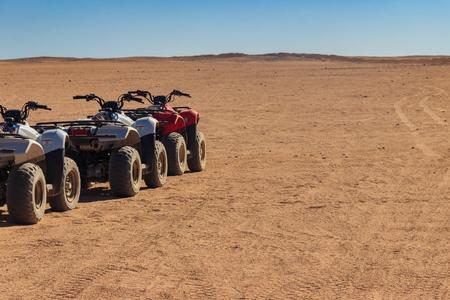 ATV quad bikes for safari trips in Arabian desert, Egypt