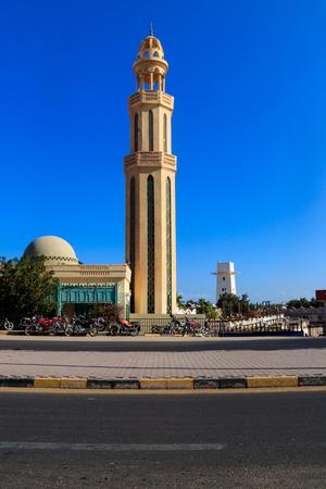 Moschea nella città di Hurghada, Egitto