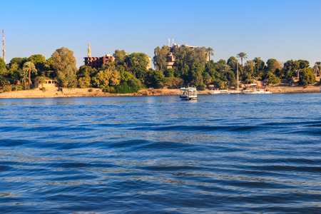 View of Nile river in Luxor, Egypt Stockfoto - 123211326