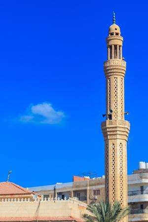 Mosque in Dahar neighborhood (old town of Hurghada) in Egypt Archivio Fotografico
