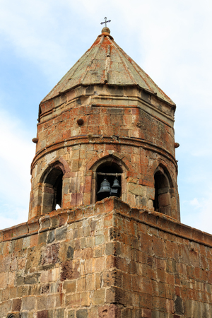 Gergeti Trinity Church (Tsminda Sameba), Holy Trinity Church near the village of Gergeti in Caucasian mountains, Georgia