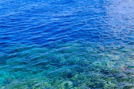 Blue water texture background. Surface of the sea