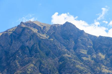 View on the Caucasian mountains in Georgia
