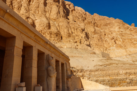 Mortuary Temple of Hatshepsut in Luxor, Egypt Banque d'images - 124775801