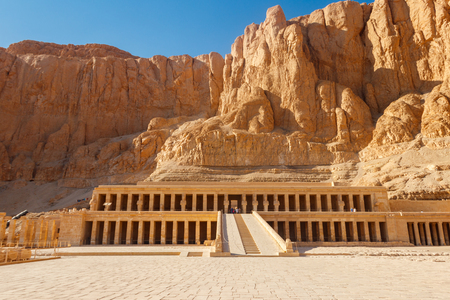 Mortuary Temple of Hatshepsut in Luxor, Egypt Banque d'images - 124775802