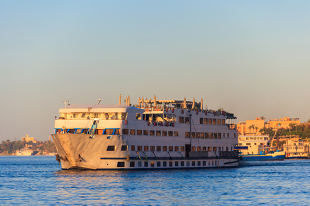 Cruise ship sailing on the Nile river, Egypt