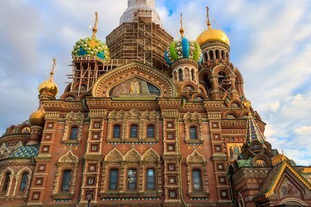Church of the Savior on Spilled Blood or Cathedral of the Resurrection of Christ is one of the main sights of Saint Petersburg, Russia Standard-Bild