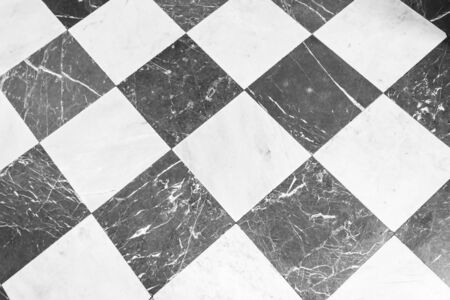 Black and white checkered marble floor. Marble texture for background
