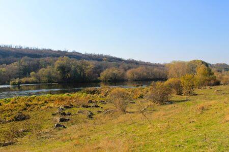 River Southern Bug in Ukraine on autumn Reklamní fotografie