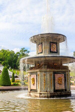 Roman fountain in lower park of Peterhof
