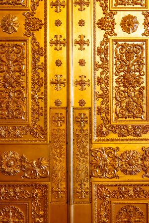 Close-up of a gilded ornate door Stok Fotoğraf - 130399367