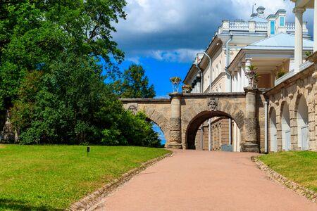 Bridge in Catherine park in Pushkin (Tsarskoye Selo), Russia