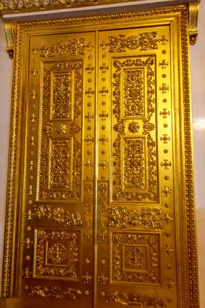Close-up of a gilded ornate door Stok Fotoğraf - 130417943