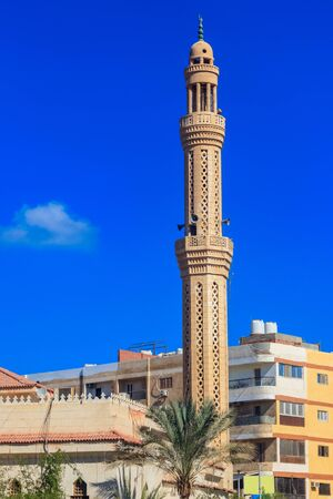 Moschea nel quartiere di Dahar (città vecchia di Hurghada) in Egitto Archivio Fotografico