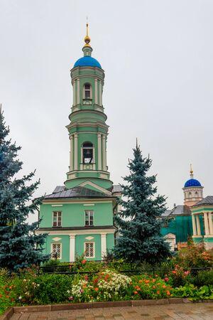 Belfry of Optina Monastery. Optina Pustyn (literally Opta's hermitage) is an Eastern Orthodox monastery near Kozelsk in Russia Zdjęcie Seryjne
