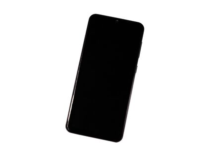 Smartphone with blank screen isolated on a white background