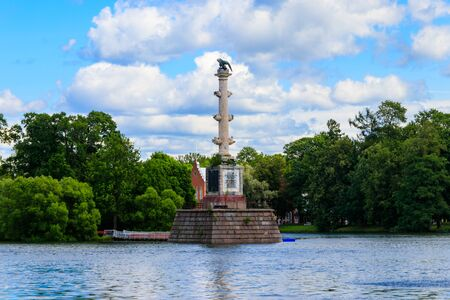 Chesme column in the Catherine Park in Tsarskoye Selo, Pushkin, Russia