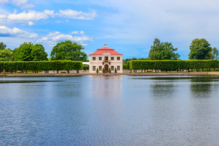 Marly palace in the Lower Park of Peterhof in St. Petersburg, Russia