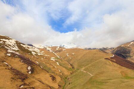 View on the Caucasus mountains in Georgia Banco de Imagens