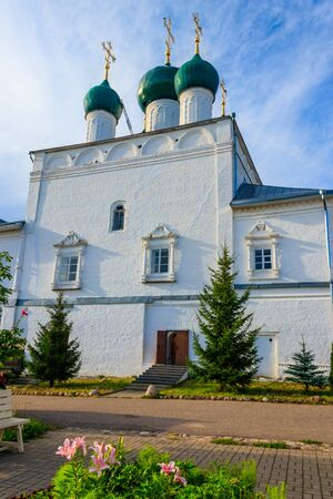 Annunciation cathedral of Nikitsky Monastery in Pereslavl-Zalessky, Russia. Golden ring of Russia Stock fotó