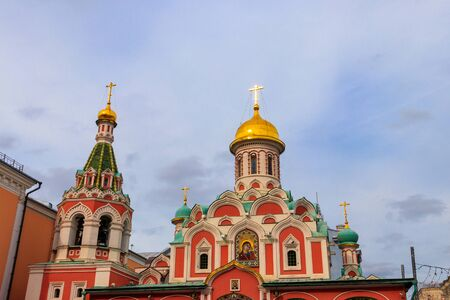 Kazan cathedral on Red square in Moscow, Russia