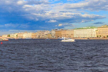 View of the Neva river in St. Petersburg, Russia Stock fotó