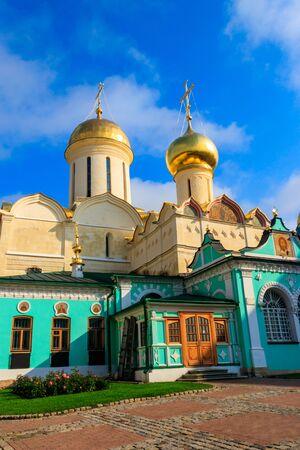 Trinity Cathedral of Trinity Lavra of St. Sergius in Sergiev Posad, Russia Stock fotó