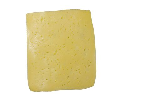 Slice of cheese isolated on white background Stok Fotoğraf