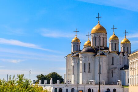 Dormition Cathedral (Assumption Cathedral) in Vladimir, Russia. Golden ring of Russia Imagens