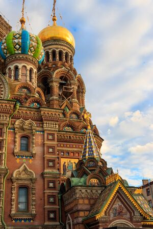 Church of the Savior on Spilled Blood or Cathedral of the Resurrection of Christ is one of the main sights of Saint Petersburg, Russia