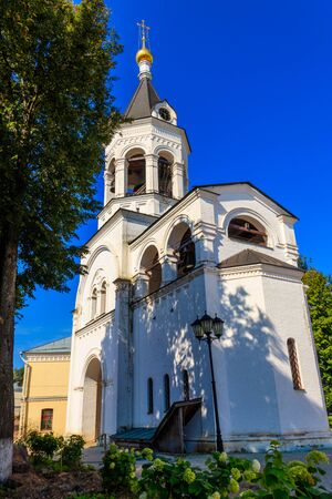 Bell tower of Theotokos Nativity Monastery in Vladimir, Russia
