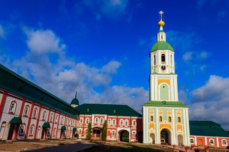 Bell tower of Sanaksar monastery of the Nativity of the Mother of God in Temnikov, Republic Mordovia, Russia Zdjęcie Seryjne
